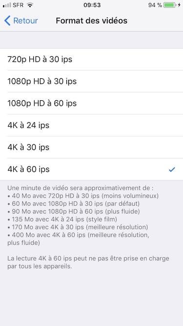 Convertir une video 4K sur Mac avec film iphone 8