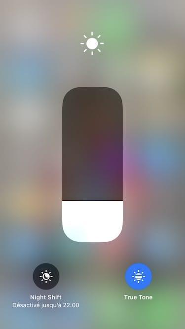 Desactiver True Tone sur iPhone iPad pro