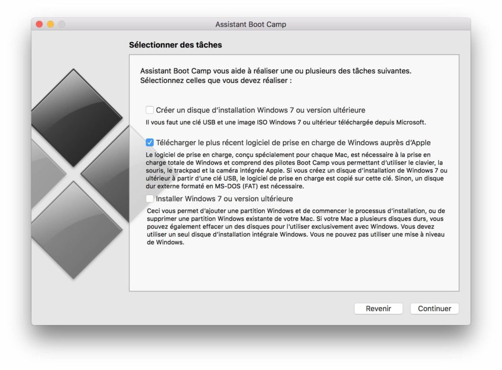 Installer Windows sur Mac sans Boot Camp drivers boot camp