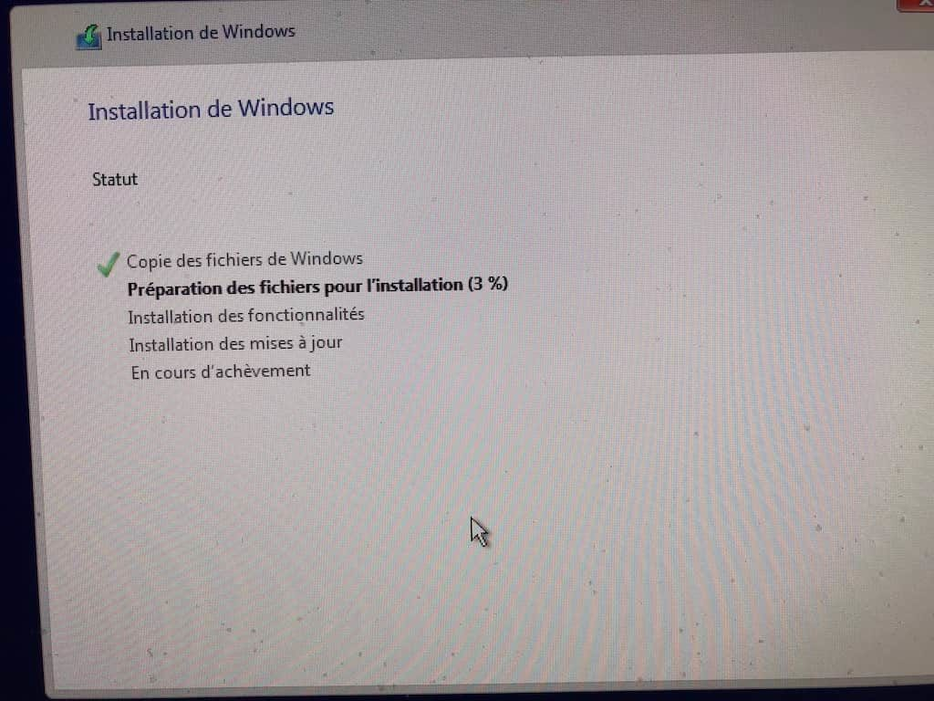 Installer Windows sur Mac sans Boot Camp installation de windows