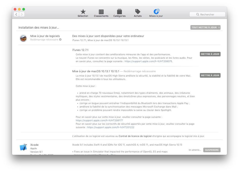 MacOS High Sierra 10.13.1 : disponible pour tous les Mac !