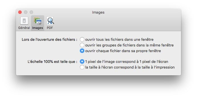 Ouvrir tous les images dans une fenetre avec Apercu preferences par defaut
