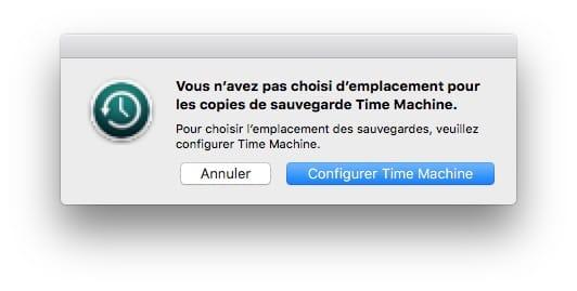 Sauvegarder son Mac avec Time Machine choisir emplacement