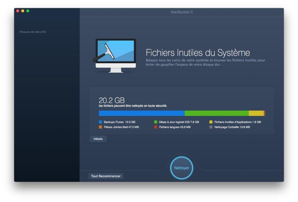 accelerer macos high sierra fichiers systeme inutiles