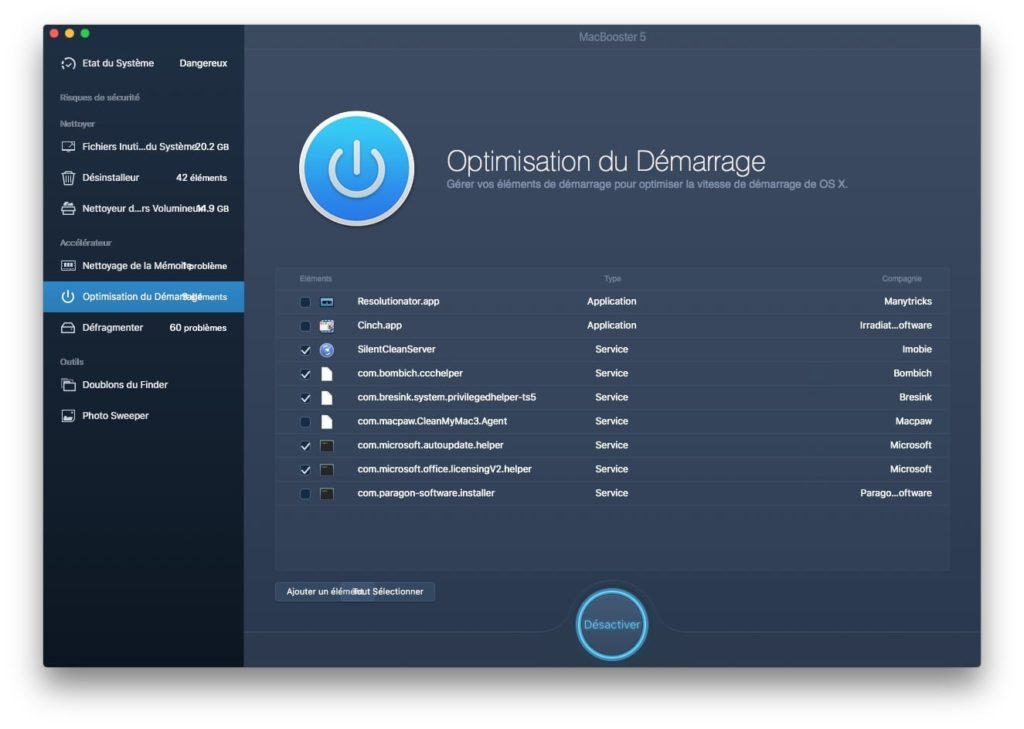 accelerer macos high sierra optimisation du demarrage