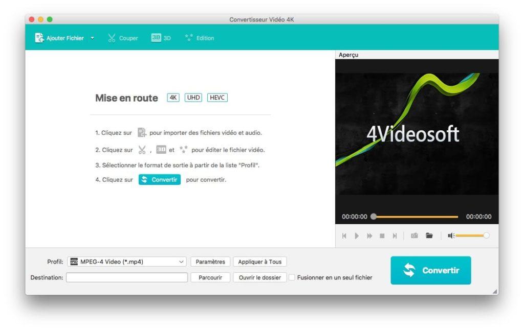 convertisseur video 4K Mac
