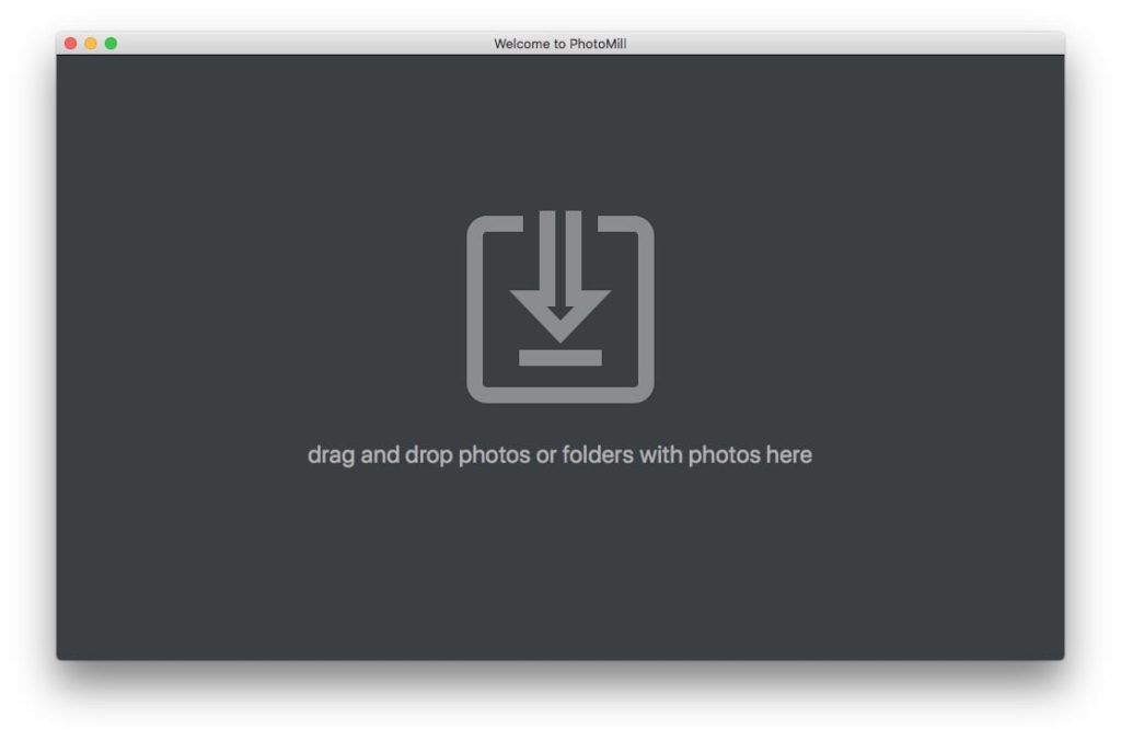 Convertir des photos sur Mac drag and drop