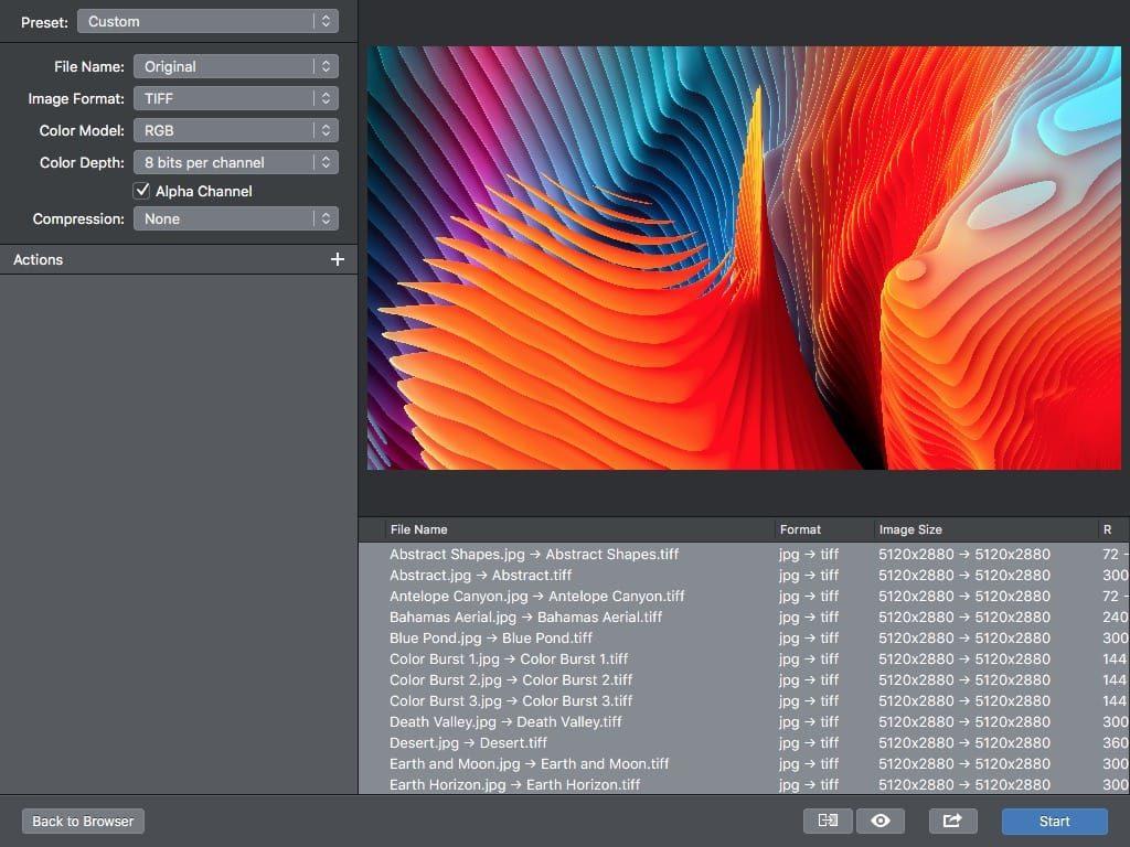 Convertir des photos sur Mac vers un autre format