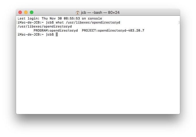 Correctif de securite root macOS High Sierra opendirectoryd