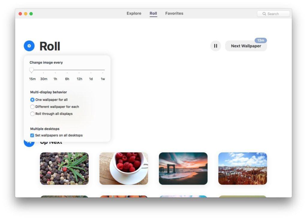 Fond d'écran Mac lecture aleatoire