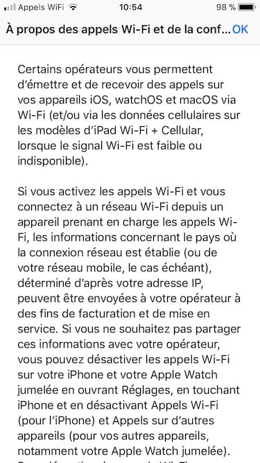 appels wifi sur iphone a propos des appels Wi-Fi et de la confidentialite