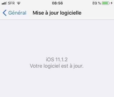iOS 11.1.2 votre logiciel est a jour