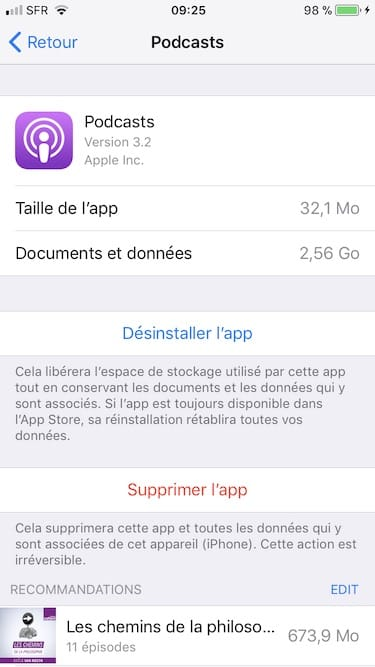 liberer memoire iphone ios11