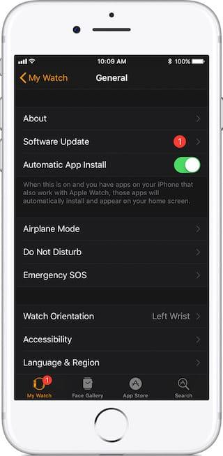 watchOS 4.1 ios 11.1