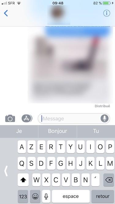 Activer le clavier a une main sur iPhone a gauche