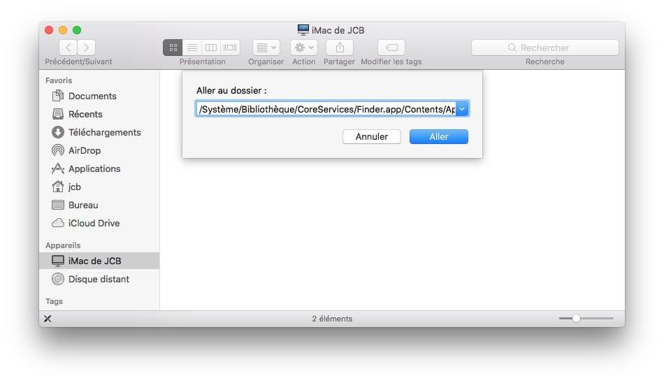 Ajouter icone iCloud Drive dans le Dock du Mac