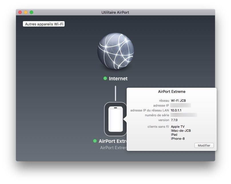 mise à jour Apple Airport 7.7.9