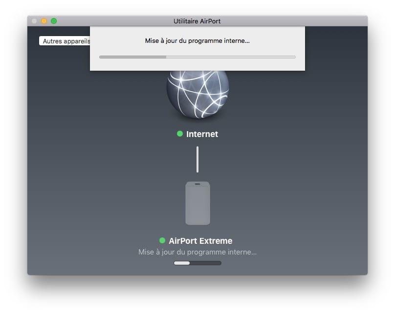 mise à jour Apple Airport extreme programme interne