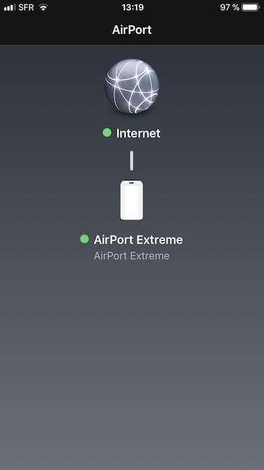 Mise à jour Apple Airport ios11