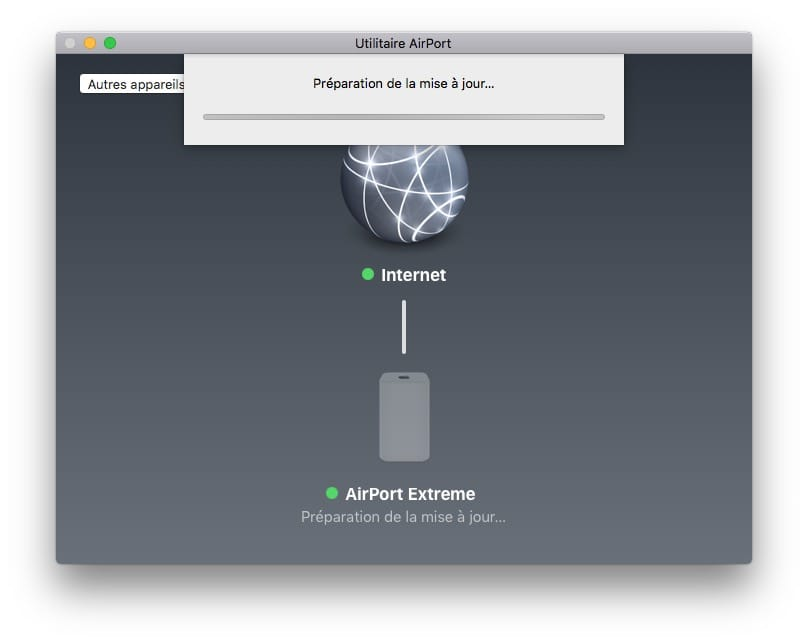 mise à jour Apple Airport preparation
