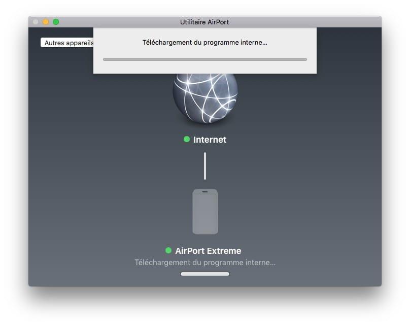 mise à jour Apple Airport telechargement firmware
