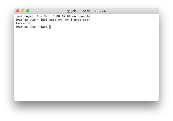 iTunes Mac ne fonctionne plus supprimer desinstaller