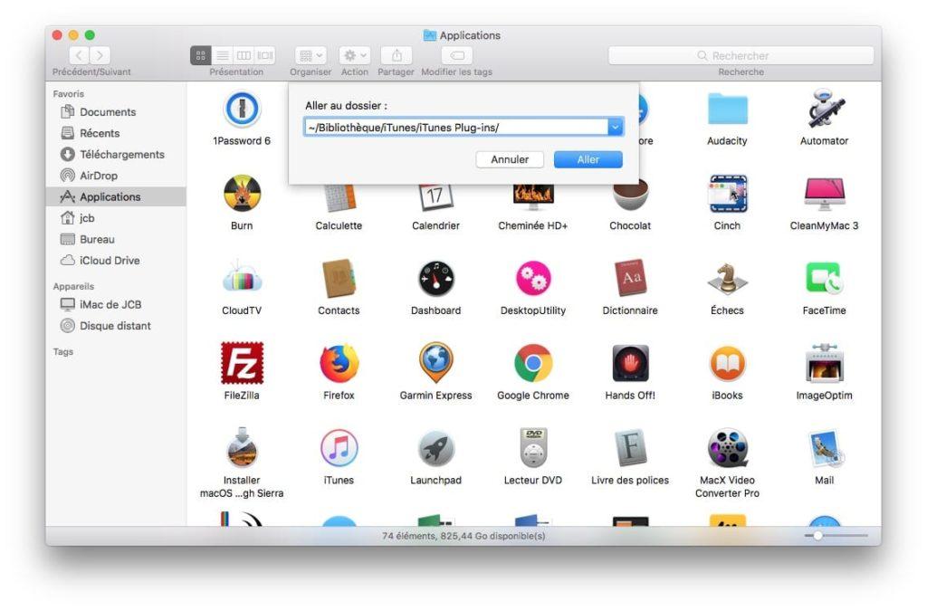 iTunes Mac ne fonctionne plus verifier plug-ins