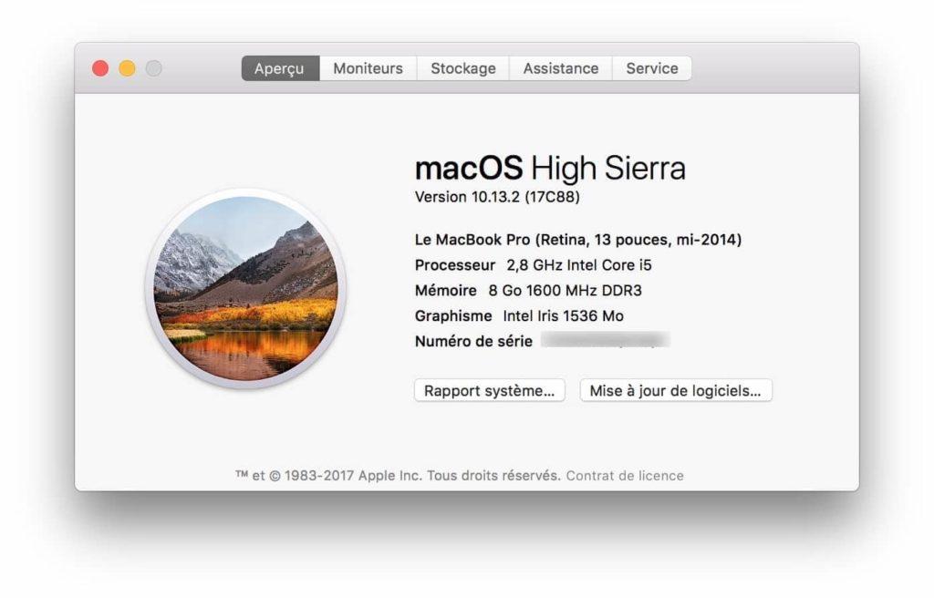macOS High Sierra 10.13.2 download update