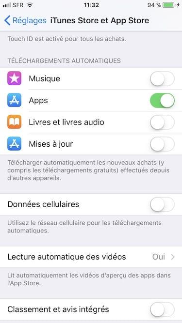 Desactiver les mises a jour automatique de son iPhone sous iOS