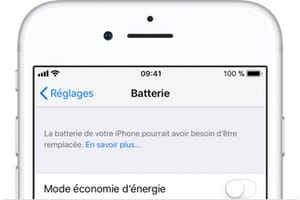 Verifier la batterie de son iPhone capacite de charge remplacement apple store