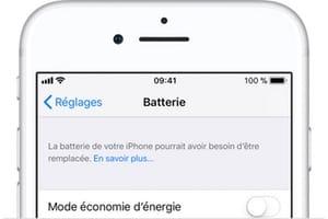 Verifier la batterie de son iPhone capacite de charge remplacement apple store