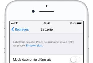 Verifier la batterie de son iPhone reglages batterie