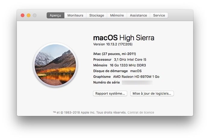 macos High Sierra 10.13.2 imac macbook mac mini