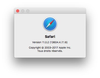 macos High Sierra 10.13.2 mise a jour supplementaire Safari update