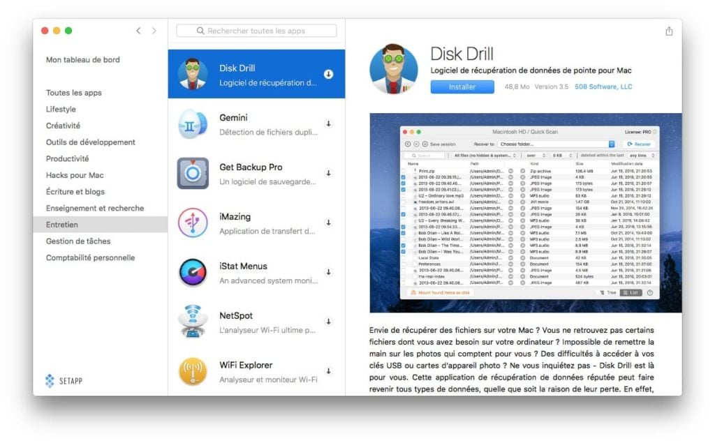 setapp disk drill cleanmymac
