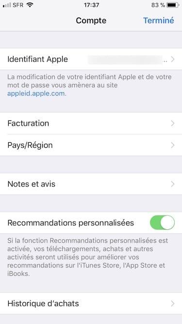 Changer le pays de son App Store pays et region