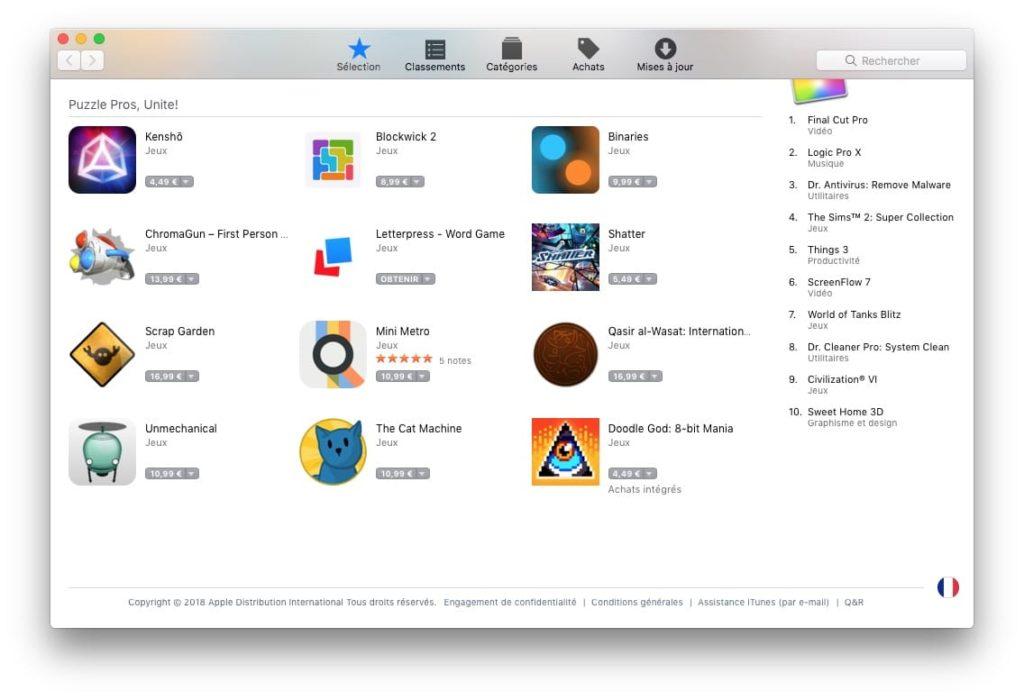 Changer le pays de son App Store sur Mac