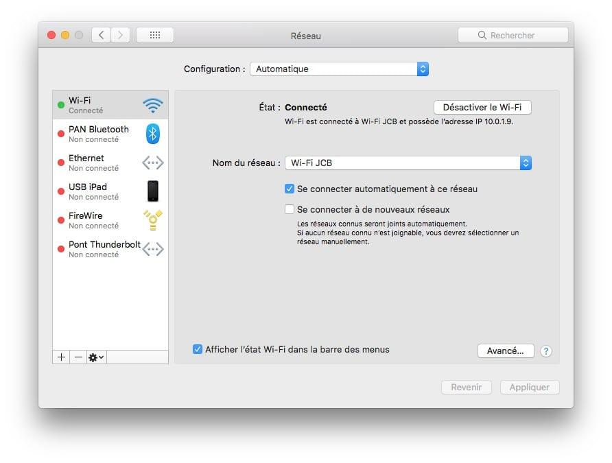 Changer les DNS de son Mac en Wifi ou Ethernet