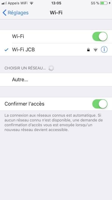 Changer les DNS de son iPhone en Wifi