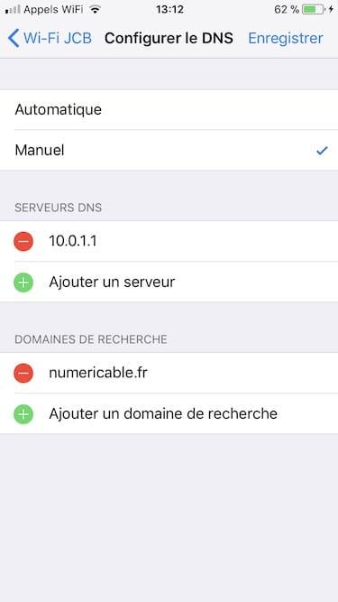 Changer les DNS de son iPhone pour Google DNS OpenDNS