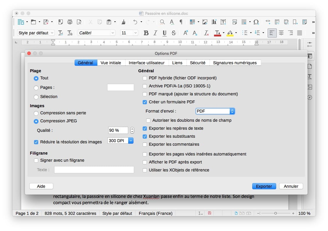 Convertir un document en pdf sous mac - Comment convertir un fichier pdf en open office ...