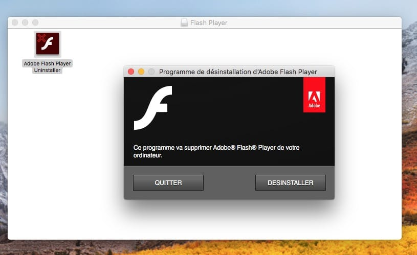 desinstaller flash player macos high sierra