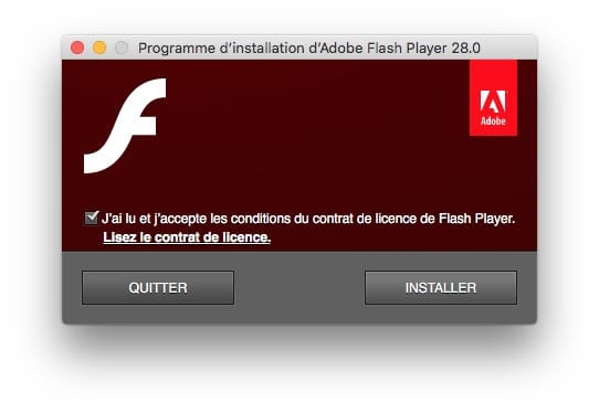 installation adobe flash player mac