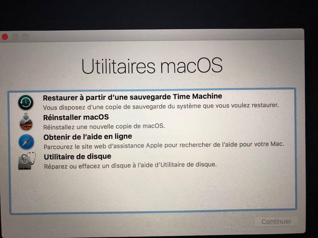 ligne de commande demarrage mac