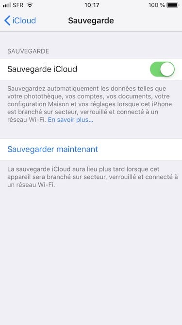 Reinitialiser son iPhone sauvegarder maintenant