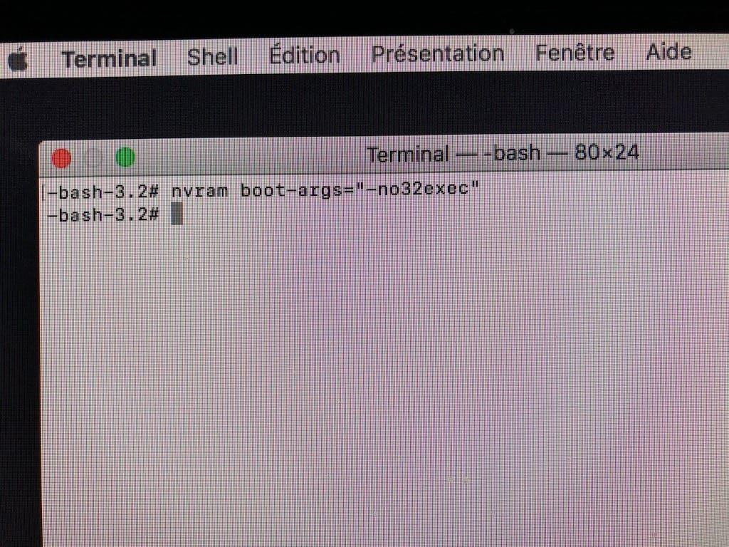 Utiliser macOS High Sierra en 64-bits no32exec
