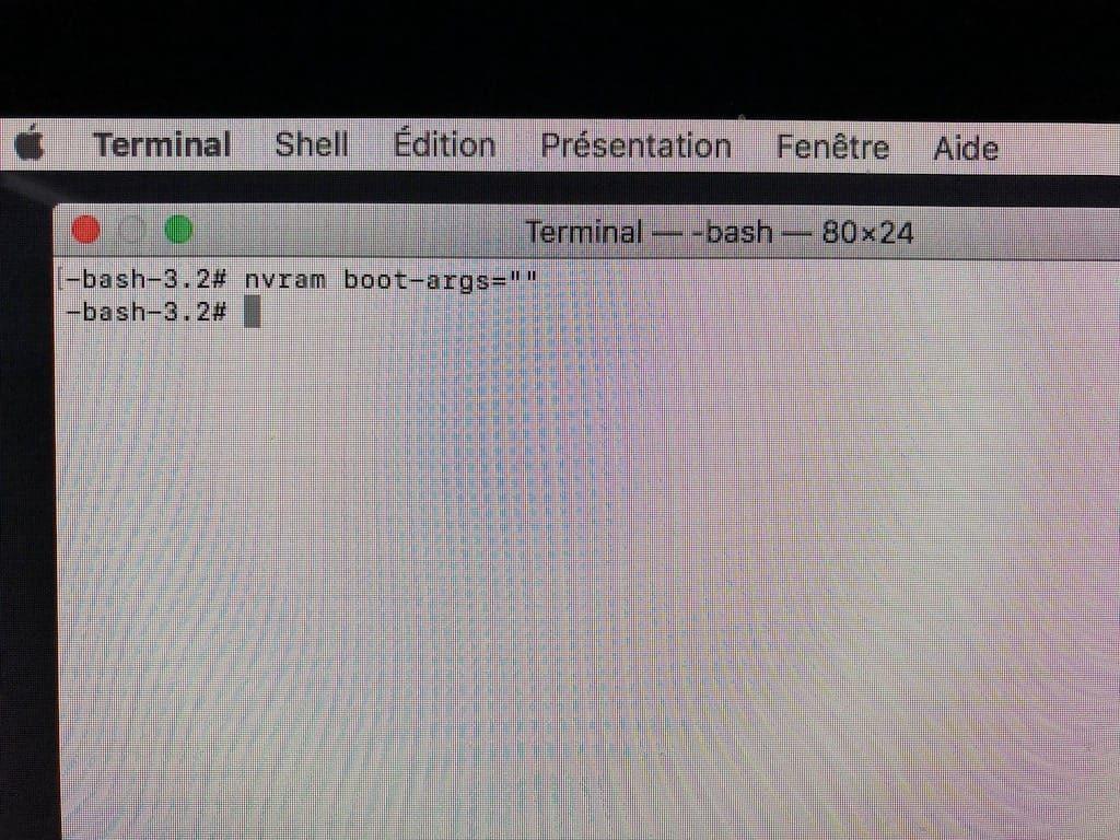 Utiliser macOS en 64-bits desactiver
