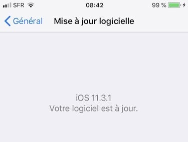 iOS 11.3.1 iphone correctif ecrans tactiles