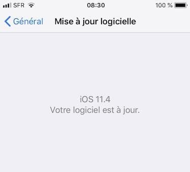 iOS 11.4 pour iphone et ipad