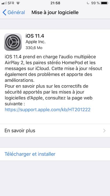 iOS 11.4 update OTA